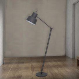 Grey Adjustable Industrial Floor Lamp