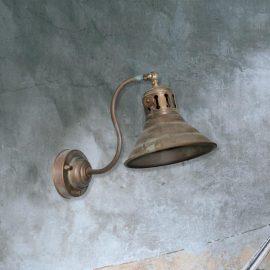 Aged Brass Wall Light