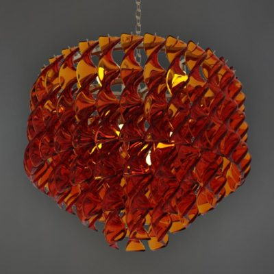 Amber Coloured Acrylic Chandelier