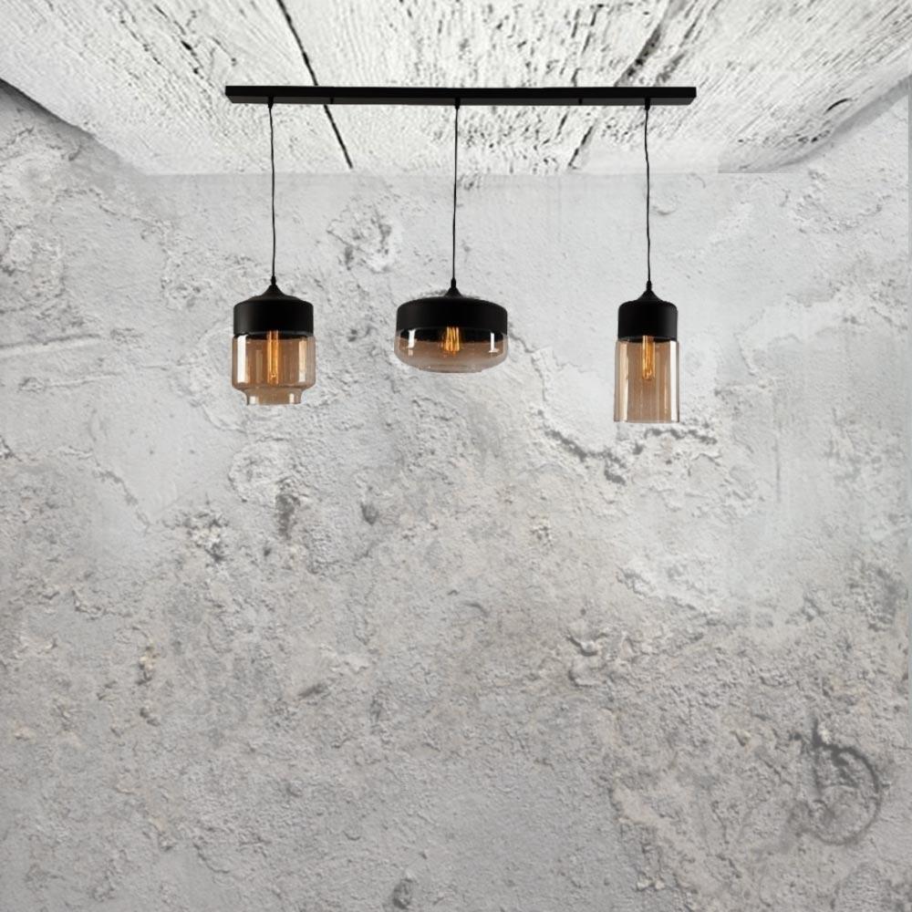 Amber Glass Pendant Light Bar  sc 1 st  E2 Contract Lighting & E2 Contract Lighting | Products | Amber Glass Pendant Light Bar CL ...