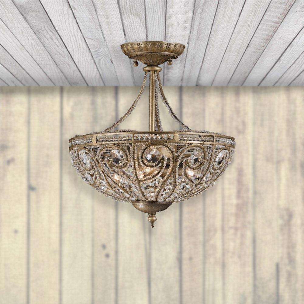 Antique brass 3 light semi flush cl 34161 e2 contract lighting uk antique brass 3 light semi flush aloadofball Gallery
