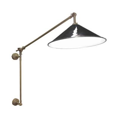 Antique Brass Black Coolie Enamel Wall Light