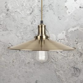 Antique Brass Cymbal Pendant Light
