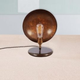 Antique Brass Dish Table Lamp