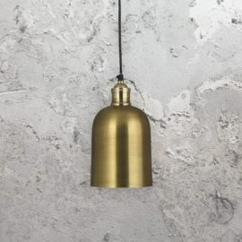Antique Brass Dome Pendant Light