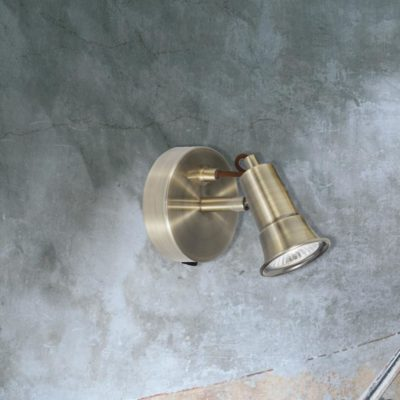 Antique Brass GU10 Spotlight