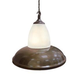 Antique Brass Glass Pendant Light