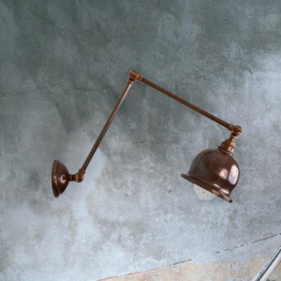 Antique Brass Industrial Extendable Wall Light