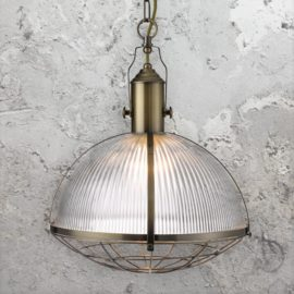 Antique Brass Industrial Pendant Light