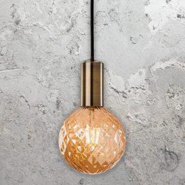 Antique Brass Pendant Lamp Holder