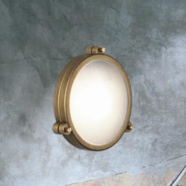 Antique Brass Round Wall Light