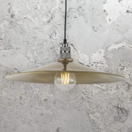 Antique Brass Saucer Pendant Light