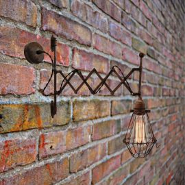 Antique Brass Scissor Wall Light