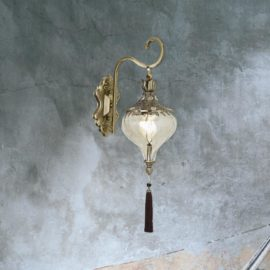Antique Brass Tassel Wall Light