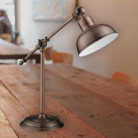 Antique Copper Industrial Table Lamp