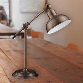 Antique Copper Industrial Table Lamp