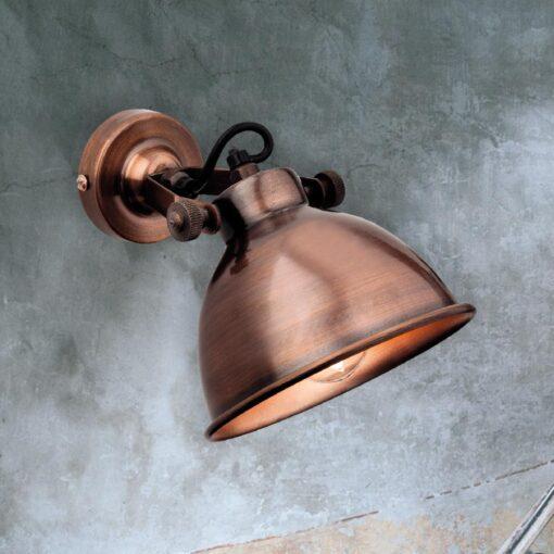 Antique Copper Single Spotlight