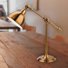 Antique Gold Industrial Table Lamp