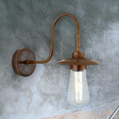Antique Outdoor Minimal Brass Wall Light