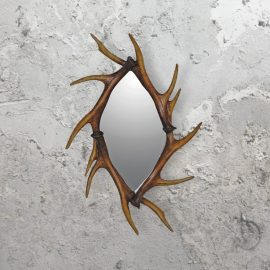 traditional deer antler mirror