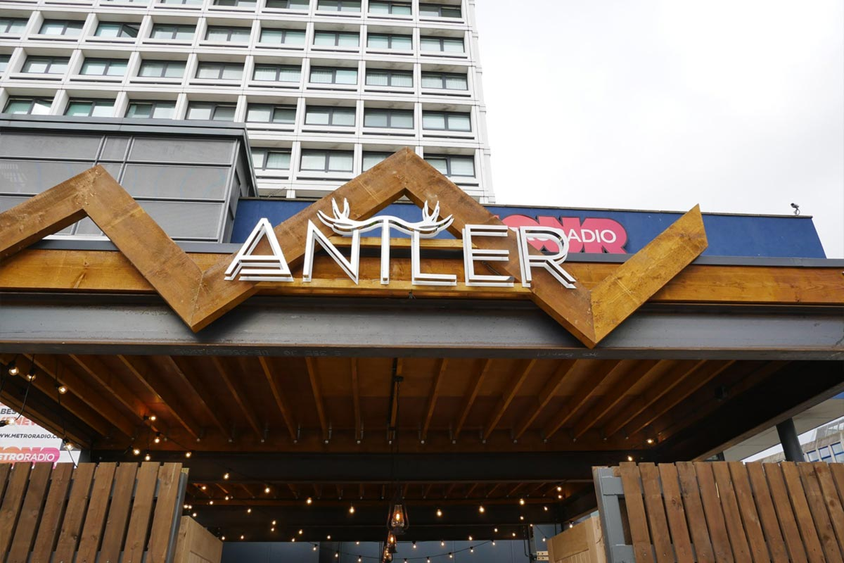 Antler, Newcastle Sign