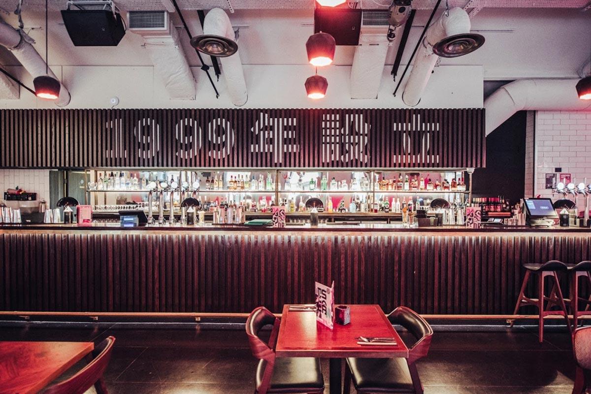 Bar Soba, Derby Bar Lighting