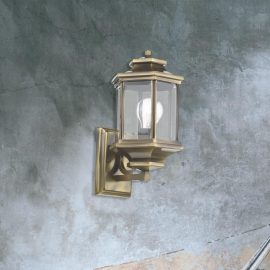 one light bevelled glass wall lantern,antique brass wall lantern
