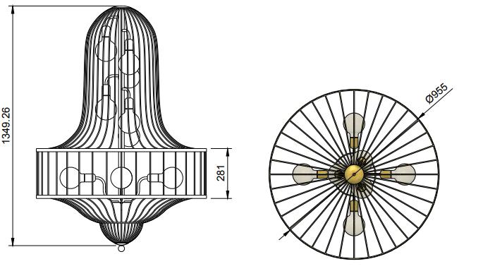 Birdcage Chandelier Dimensions