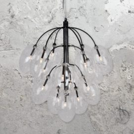 Black 15 Light Chandelier