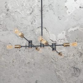 Black Adjustable 6 Light Pendant