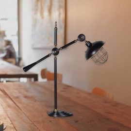 industrial black adjustable arm desk lamp,large adjustable industrial table lamp