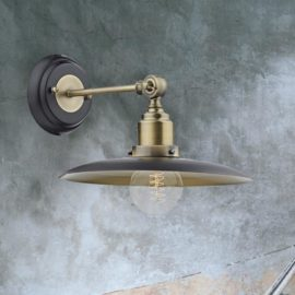 Black Antique Brass Wall Light