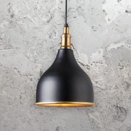 Black Brass Inner Pendant Light