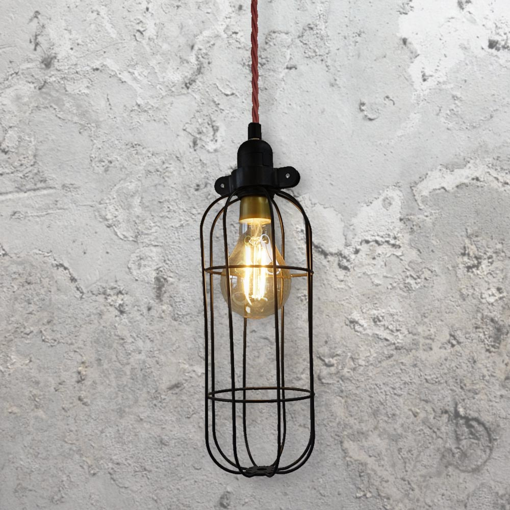 Black Cage Light CLB-00521 | Bespoke | E2 Contract Lighting | UK