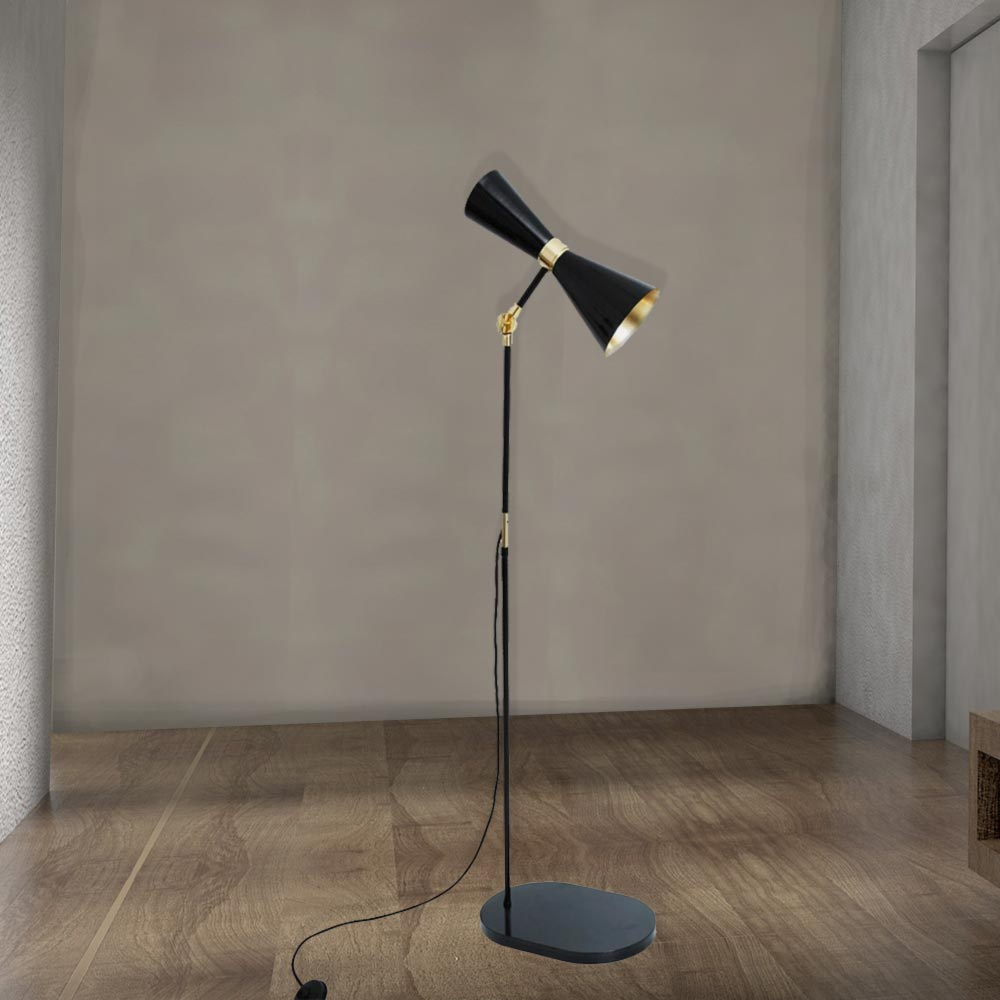 Black contemporary floor lamp
