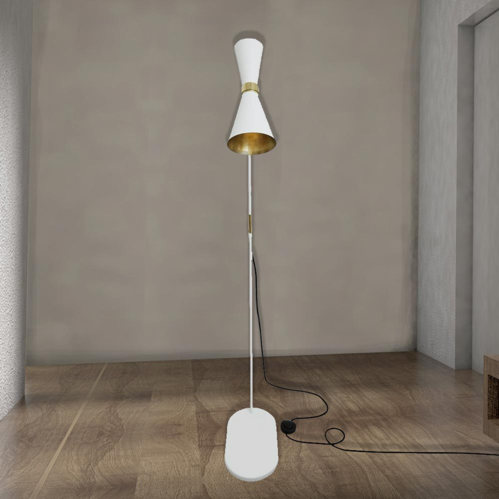 Black Contemporary Floor Lamp Cl 33990 1 E2 Contract