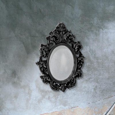 traditional black decorative wall mirror