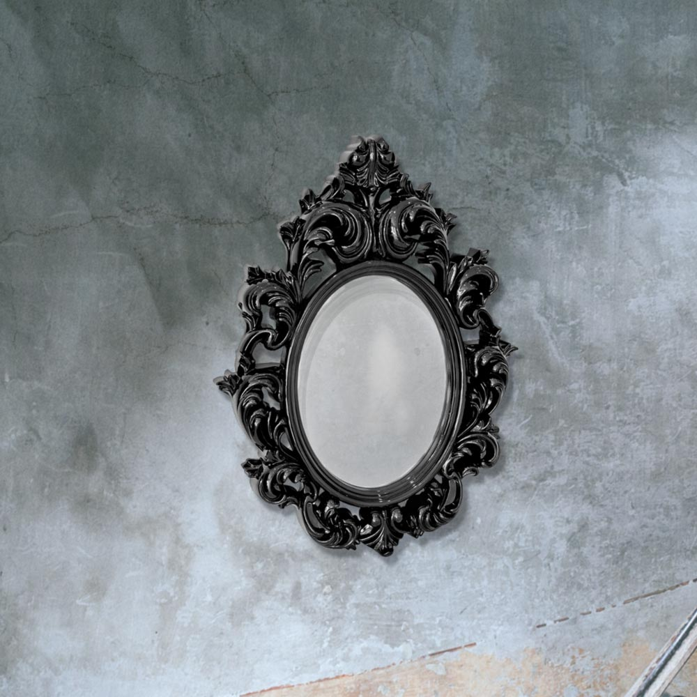 black decorative wall mirror cl 33660 mirrors e2 contract lighting uk. Black Bedroom Furniture Sets. Home Design Ideas