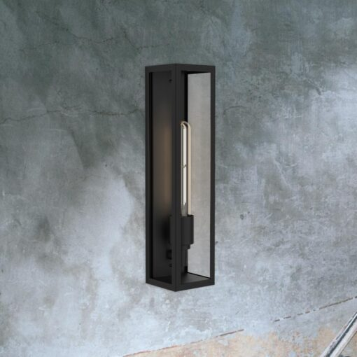 Black Elongated Outdoor Wall Light