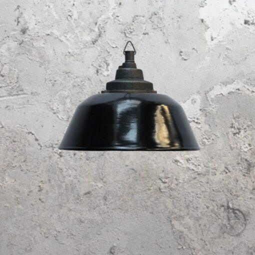 Black Enamel Pendant Light