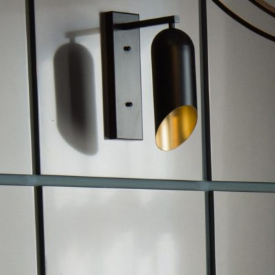 Black & Gold Inner Wall Light