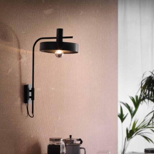 Black Industrial Wall Light