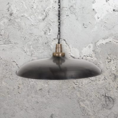 Industrial Wide Metal Pendant Light