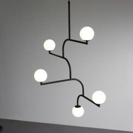 Black Minimalist Designer Feature Light