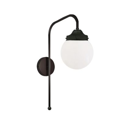 Black Opal Globe Wall Light