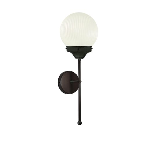 Black Prismatic Globe Wall Light