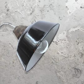 Black Reclaimed Wall Light