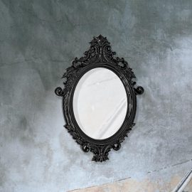 traditional decorative black Venetian mirror
