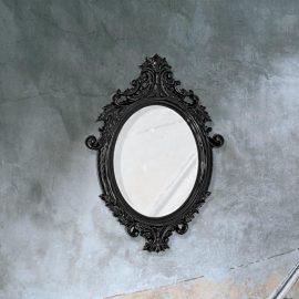 Black Convex Mirror Cl 33649 Round Mirrors E2 Contract