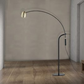 Black and Gold Arc Floor Lamp,black metal arc floor lamp,black arc floor lamp